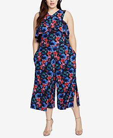 RACHEL Rachel Roy Plus Size Floral-Lace Jumpsuit