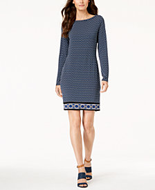 MICHAEL Michael Kors Printed-Hem Dress In Regular & Petite Sizes