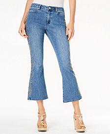 MICHAEL Michael Kors Embellished Flare-Leg Jeans