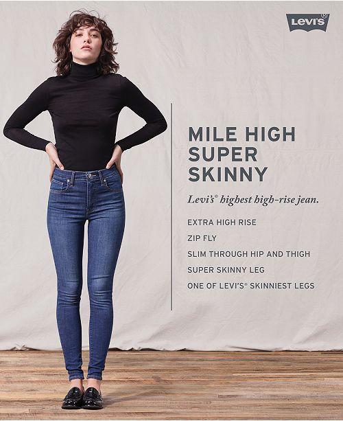fb7866b4 Levi's Mile High Super Skinny Jeans & Reviews - Jeans - Women - Macy's