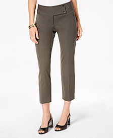 Alfani Cropped Slim-Leg Pants, Created for Macy's