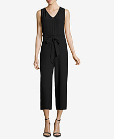 ECI Tie-Front Cropped Jumpsuit