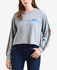Levi's® Rainbow-Striped Cropped Sweatshirt
