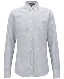BOSS Men's Slim-Fit Striped Cotton Shirt