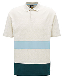 BOSS Men's Striped Cotton Polo