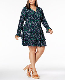 MICHAEL Michael Kors Plus Size Tiered Dress
