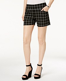 INC Plaid Pull-On Shorts, Created for Macy's