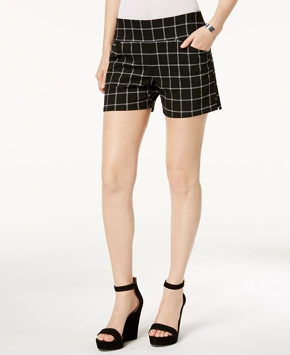 INC International Concepts INC Plaid Pull-On Shorts, Created for Macy's