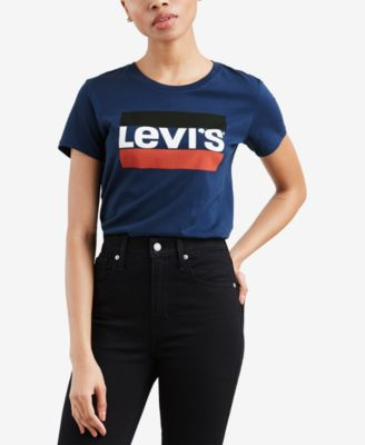 Image of Levi's® Perfect Graphic Logo T-Shirt, Created for Macy's