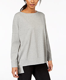 Eileen Fisher Organic Cotton High-Low Top, Regular & Petite