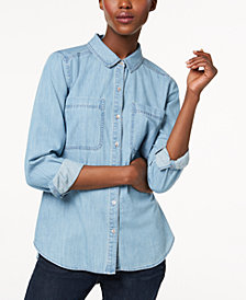Eileen Fisher Organic Cotton Shirt in Regular & Petite Sizes