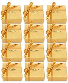 Set of 12 4-Pc. Gold Gift Boxes
