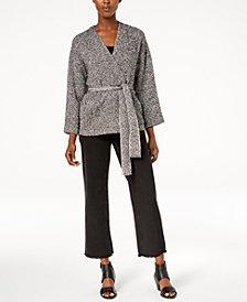 Eileen Fisher Kimono Jacket & Frayed Jeans