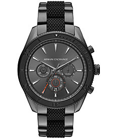 A|X Armani Exchange Men's Chronograph Enzo Two-Tone Stainless Steel Bracelet Watch 46x52mm