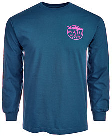 Maui and Sons Men's Long-Sleeve Graphic-Print T-Shirt