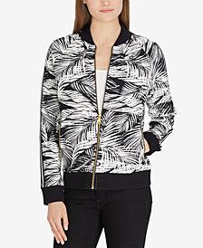 Lauren Ralph Lauren Petite Printed Bomber Jacket