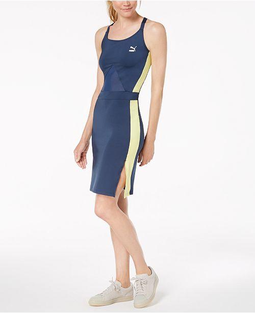 Puma Archive T7 Strappy-Back Bodycon Dress - Dresses - Women - Macy s b39d7b26a11