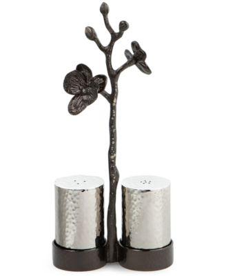 Black Orchid Salt & Pepper Shakers