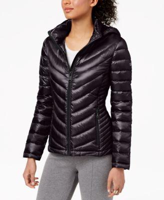 Petite Hooded Packable Puffer Coat