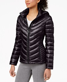Calvin Klein Petite Hooded Packable Puffer Coat