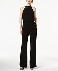 Rachel Zoe Sequined Halter Jumpsuit
