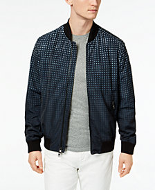 Michael Kors Men's Ombré Gingham Bomber Jacket