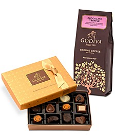 12-Pc. Gold Discovery Box & Chocolate Coffee Gift Set