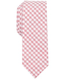 Penguin Men's Jurgen Check Skinny Tie