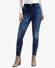 Lucky Brand Bridgette Printed Skinny Jeans