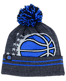 Mitchell & Ness Orlando Magic Black Heather Hi-5 Pom Knit