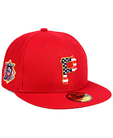 New Era Boys' Pittsburgh Pirates Stars and Stripes 59FIFTY Fitted Cap