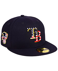 New Era Boys' Tampa Bay Rays Stars and Stripes 59FIFTY Fitted Cap