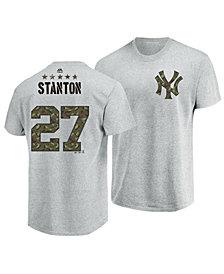 Majestic Men's Giancarlo Stanton New York Yankees Camo Player T-Shirt