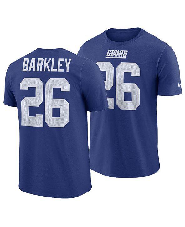 Nike Men's Saquon Barkley New York Giants Pride Name and Number Wordmark T-shirt
