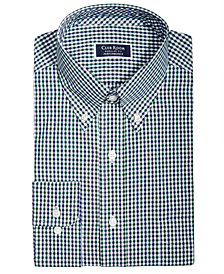 Club Room Men's Big & Tall Classic/Regular Fit Stretch Double Gingham Dress Shirt, Created for Macy's
