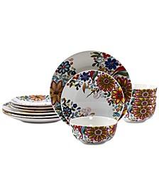 Lydia 12-Pc. Dinnerware Set
