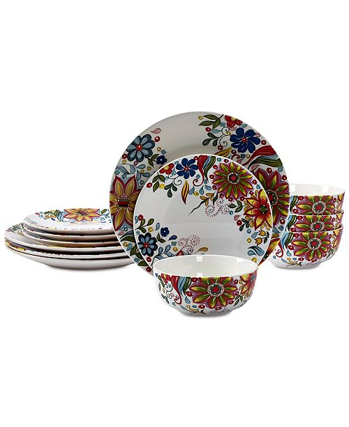 Tabletops Unlimited CLOSEOUT! Lydia 12-Pc. Dinnerware Set