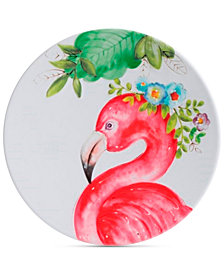 CLOSEOUT! Laurie Gates Flamingo Dinner Plate, First at Macy's