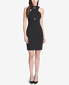 GUESS Crisscross Halter Dress