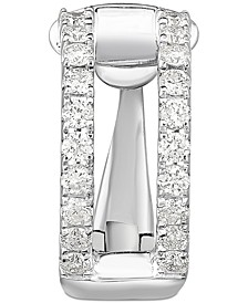 Diamond Single Cuff Earring (1/4 ct. t.w.) in 14k White Gold