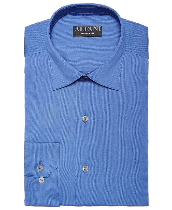 Alfani - Men's Alfa Tech Bedford Cord Classic Fit Dress Shirt, Created For Macy's