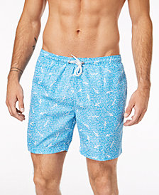 Trunks Surf & Swim Co. Men's Sano Shark Geo-Print 6'' Swim Trunks