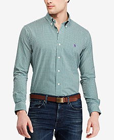 Polo Ralph Lauren Men's Slim Fit Gingham Cotton Shirt