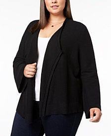 Love Scarlett Plus Size Lace-Up Cardigan