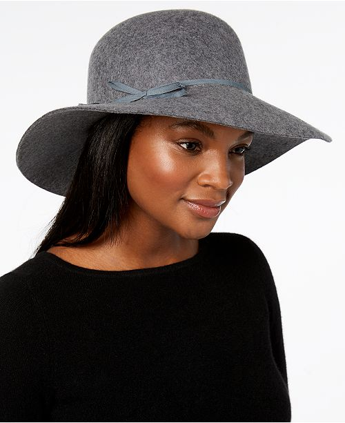 c2bd8f57e58ebd Nine West Wool Felt Floppy Hat, Created for Macy's. Macy's / Handbags &  Accessories