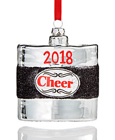 Holiday Lane 2018 Cheer Glass Ornament, Created for Macy's