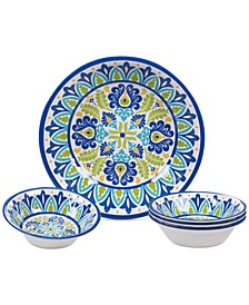 Martinique Melamine 5-Pc. Salad Set