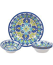 Certified International Martinique Melamine 5-Pc. Salad Set
