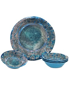 Radiance Teal 5-Pc. Salad/Serving Set