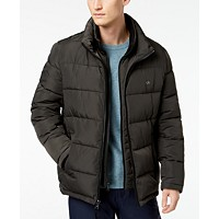 Deals on Calvin Klein Mens Full-Zip Puffer Coat